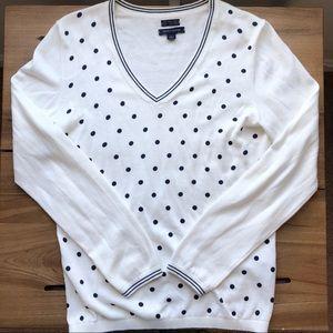 Tommy Hilfiger V-Neck Sweater 100% Pima Cotton